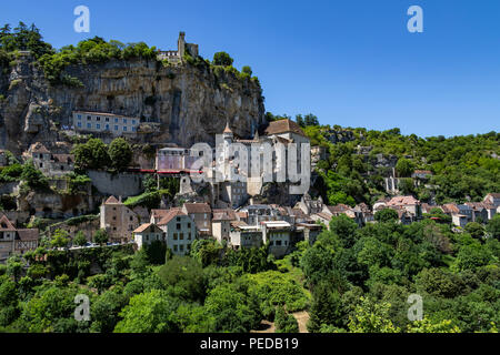 Rocamadour in the Lot department in southwestern France. - Stock Image