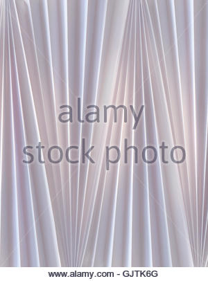 Abstract gray folded, pleated fabric - Stock Image