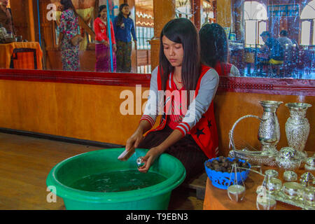 Silver processing workshop, Inle Lake - Stock Image