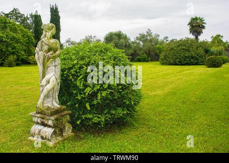 Moruzzo, Italy - May 19th 2019. A formal garden in Friuli Venezia Giulia, north east Italy - Stock Image