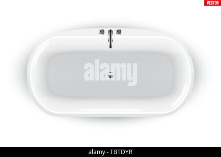 Modern bath isolated - Stock Image