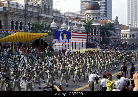 The National Day at the Sultan Abdul Samad Palace at the Merdeka Square  in the city of  Kuala Lumpur in Malaysia - Stock Image