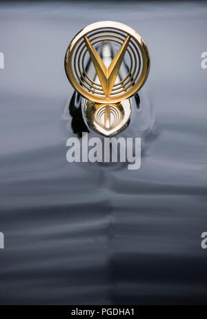 Detail of the hood ornament on an old Buick car - Stock Image