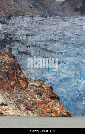At the North Sawyer Glacier, Tracy Arm, Tongass National Forest, Alaska. - Stock Image