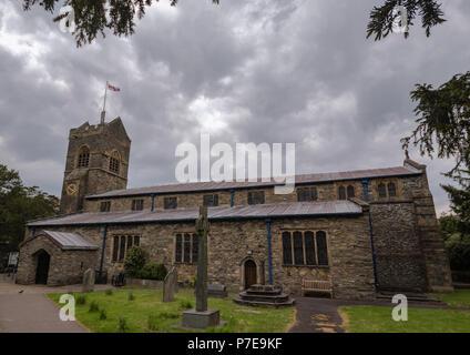 St Martin's Parish Church, Bowness-on-Windermere, Lake District, Cumbria, UK. - Stock Image