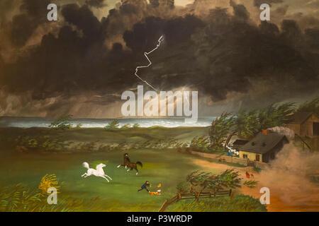 Running Before the Storm, Unknown Artist, circa 1870, Museum of Fine Arts, Boston, Mass, USA, North America - Stock Image
