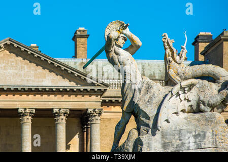 Holkham hall Stately home in North Norfolk, East Anglia, England, UK - Stock Image