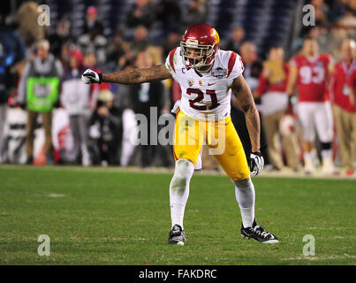 December 19, 2015. Su'a Cravens #21 of USC in action during the 2015 National Education Holiday Bowl between - Stock Image