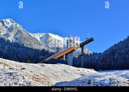 Schattenbergschanze  ski jump in the erdinger-arena. oberstdorf , Bavaria Germany Europe - Stock Image