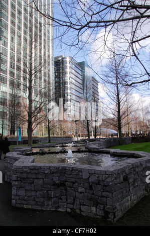 Jubilee Park Canary Wharf Docklands London - Stock Image