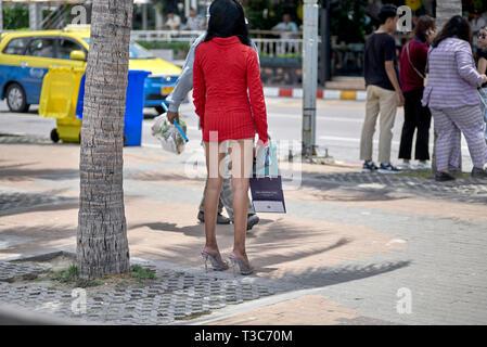 Sex trade worker, Thailand prostitute, Pattaya, Thailand - Stock Image
