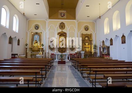 Church (Parroquia San Miguel Arcangel). Torremolinos, Málaga, Spain. - Stock Image