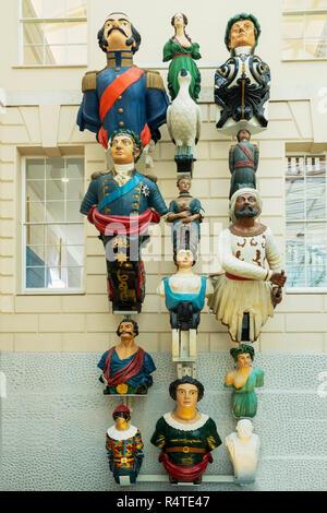 Ship Figureheads, Royal Maritime Museum, Greenwich, London, England, UK, Europe - Stock Image