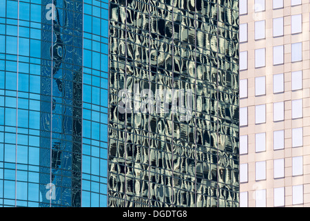 Modern glass city office buildings Houston Texas - Stock Image