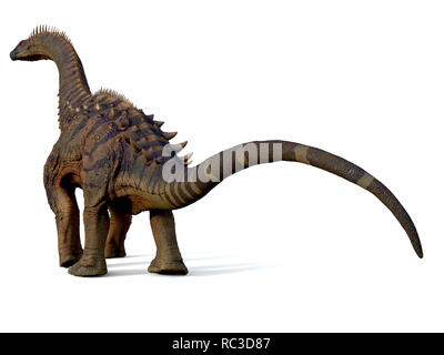 Alamosaurus Dinosaur - Alamosaurus was a titanosaur sauropod herbivorous dinosaur that lived in North America during the Cretaceous Period. - Stock Image