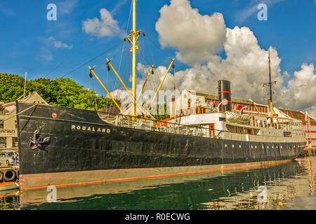 Historic Passenger Ship Rogaland, Stavanger, Norway - Stock Image