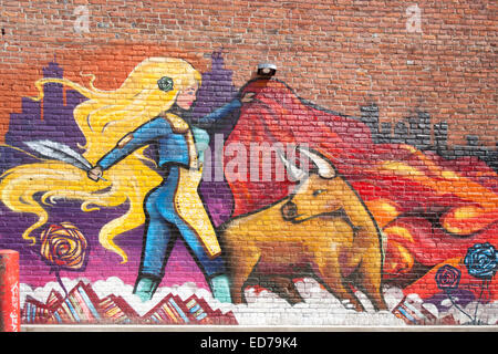 Graffiti alley, Ann Arbor - Stock Image