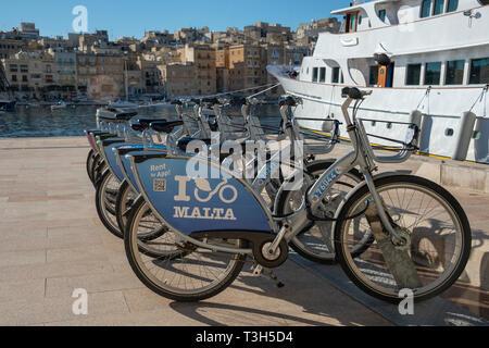 Bike hire in Malta - Stock Image