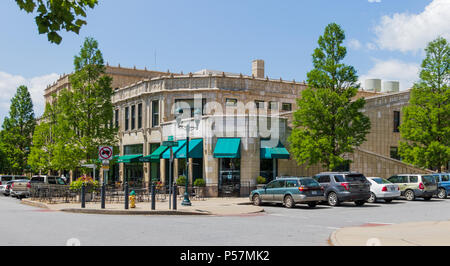 ASHEVILLE, NC, USA-24 JUNE 18: The Grove Arcade at the corner of Page Ave. and Battle Square. - Stock Image