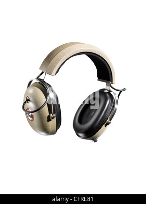 Headphones shot as a cut out - Stock Image