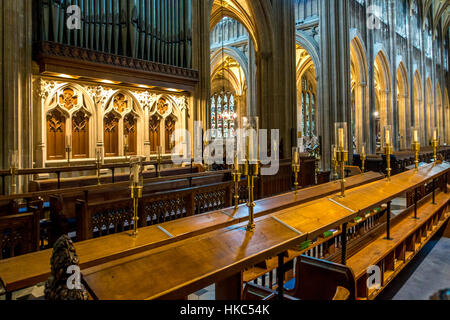 St. Saint Mary Redcliffe district  Anglican parish church Bristol England - Stock Image