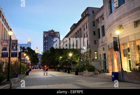 Raleigh, North Carolina. Downtown at dusk. - Stock Image