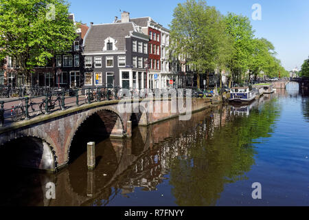 The Keizersgracht canal in Amsterdam, Netherlands - Stock Image