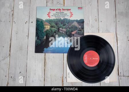 Anna Moffo/Leopold Stokowski recording of Canteloube's Songs of the Auvergne - Stock Image
