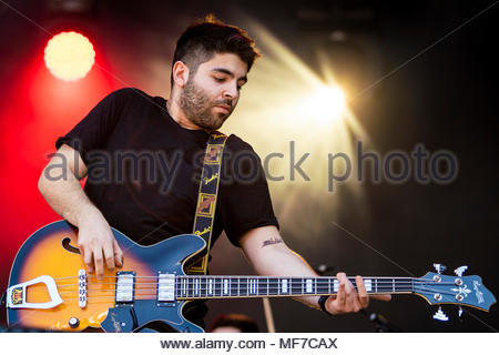 Bear's Towers performing live at the first edition of MUSILAC Mont-Blanc music festival in Chamonix (France) - 20 April 2018 - Stock Image