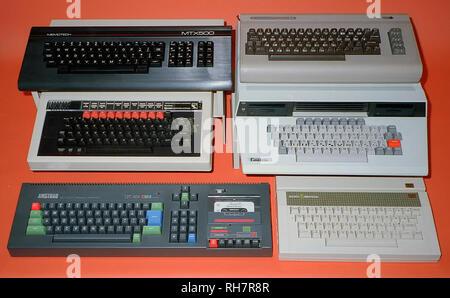 Archive 1980s Retro Home Computers - Stock Image