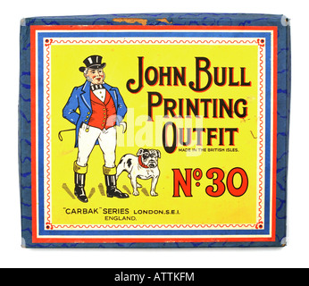John Bull Printing Outfit c1960s Children's Toy FOR EDITORIAL USE ONLY - Stock Image