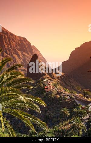 Canary Islands, Tenerife, Masca Mountain Village - Stock Image