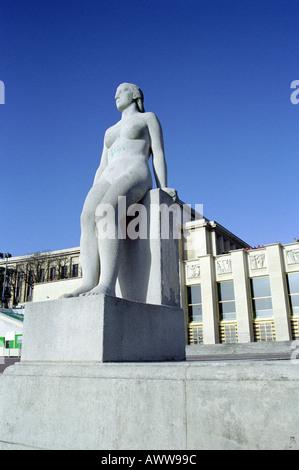 Statue, Trocadero, Paris, France - Stock Image