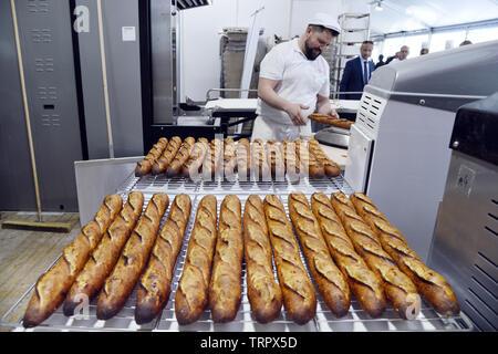 Best french tradition baguette contest - Paris - France - Stock Image
