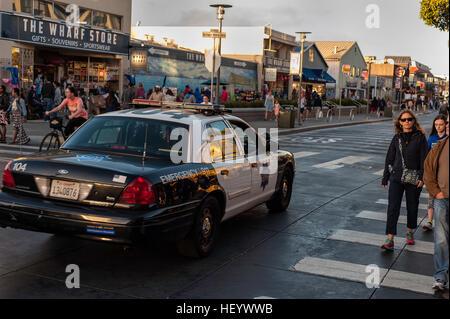 Police in San Francisco at Fisherman Wharf - Stock Image