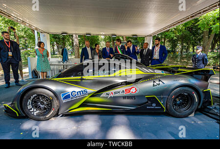 Piedmont Turin - Turin auto show 2019  - Valentino park --personalities visit the stands - Spice X - Stock Image
