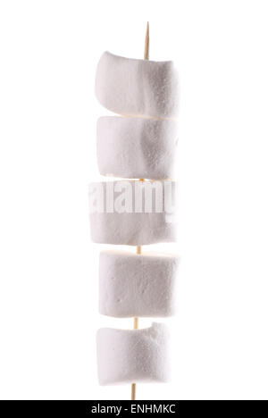Marshmallows skewer. - Stock Image