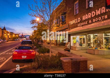 Tupelo Hardware Co. (where Elvis Presley's mother bought Elvis his first guitar in 1946) on Main Street in Historic Downtown Tupelo, MS. (USA) - Stock Image