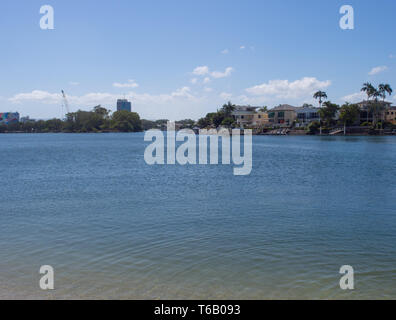 Nerang River And Chevron Island On The Gold Coast - Stock Image