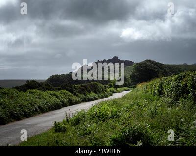 Hound Tor, Datmoor National Park, Devon - Stock Image