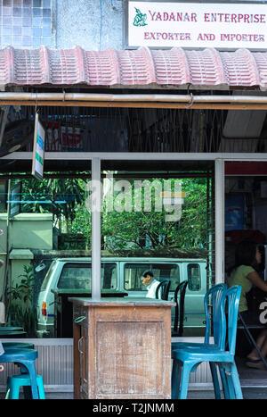 Import and export small business in Yangon Myanmar (Burma) - Stock Image