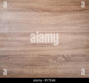 Brown pine wooden texture background. Top view. - Stock Image