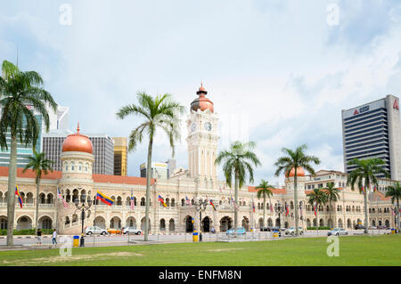 The famous Sultan Abdul Samad Building in central Kuala Lumpur, Malaysia, dating from the colonial era - Stock Image