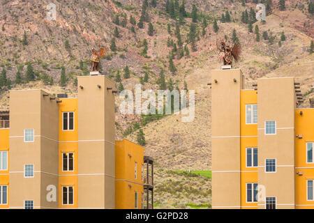 Nk'mip Resort and Conference Centre, Osoyoos BC Canada. Resort showcases rich native heritage and Okanagan holiday - Stock Image