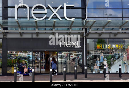 Outside Next clothing store, Imperial Retail Park, Bristol, UK - Stock Image