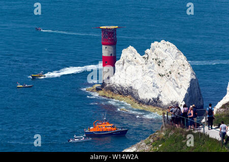 2019, Round the Island Yacht Race, Cowes, Isle of Wight,England, 29 June 2019, - Stock Image