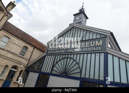 North Somerset coalfield heritage museum in old market building, Radstock, Somerset, England, UK - Stock Image