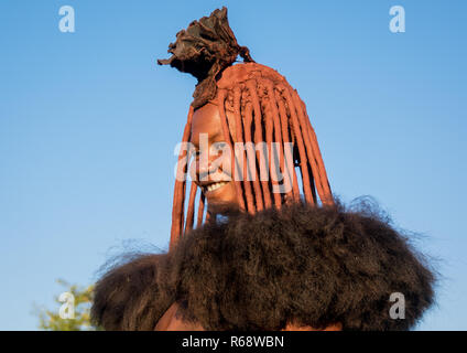Himba tribe woman, Cunene Province, Oncocua, Angola - Stock Image