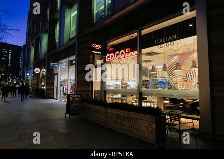 Coco di Mama Italian diner, Southwark, London, England, UK - Stock Image