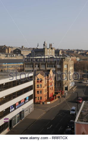 Elevated view of Seagate Dundee Scotland  February 2019 - Stock Image
